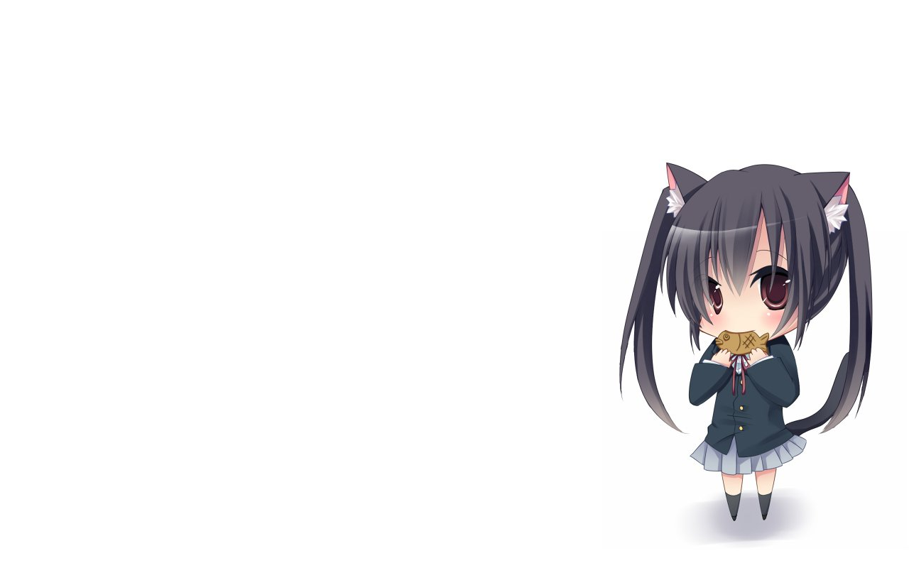 Chibi Neko Computer Wallpapers Desktop Backgrounds 1280x800 ID 1280x800