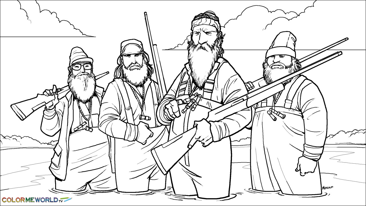 free duck hunting coloring pages - photo#34