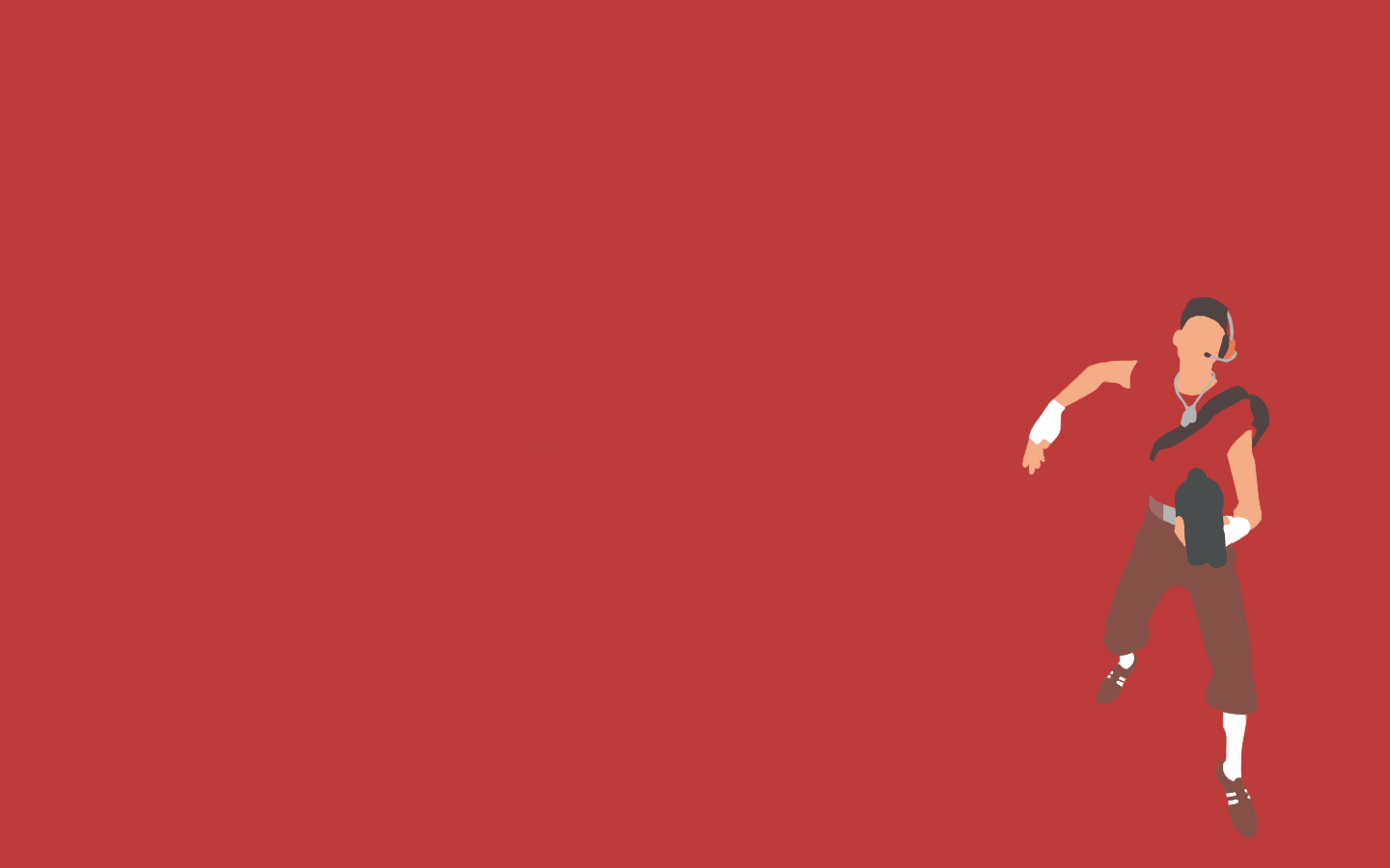download TF2 Red Scout Minimalist Wallpaper by bohitargep 1440x900