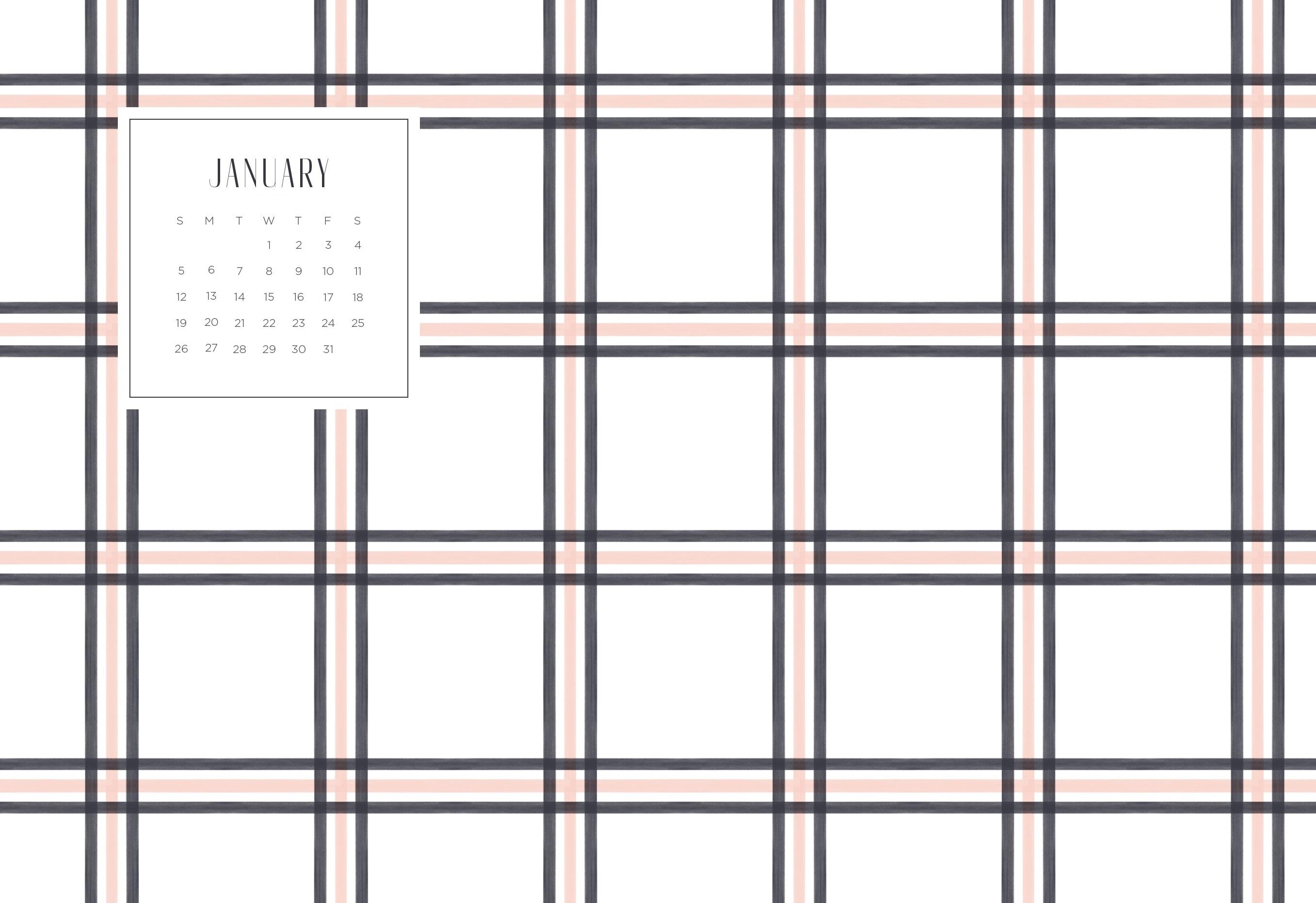 January 2020 Wallpaper Calendar Calendar 2019 2714x1862