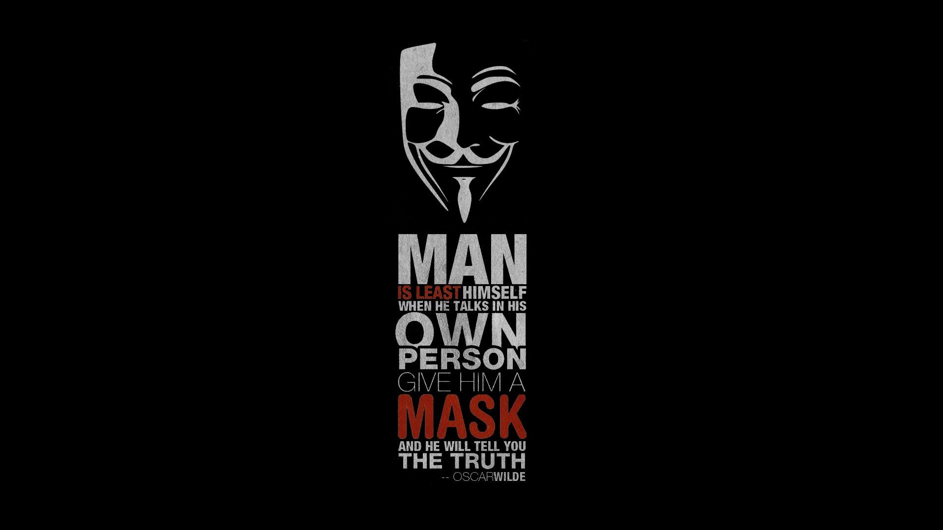 quote Oscar Wilde V For Vendetta Wallpapers HD Desktop 1920x1080
