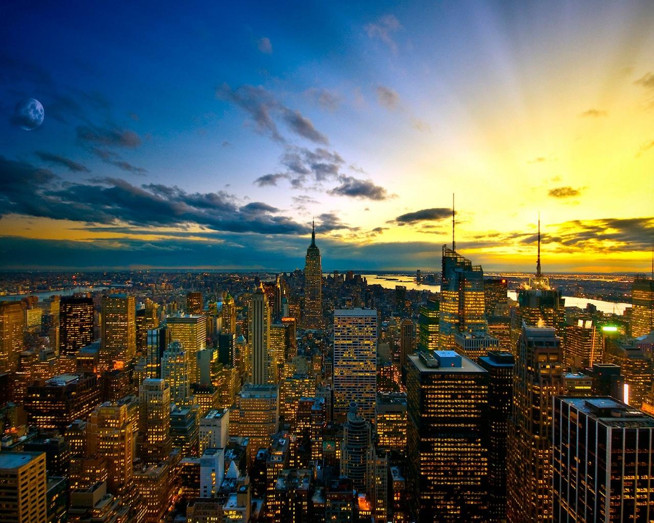 New York Cityscape Wallpaper   1280x1024 1280x1024