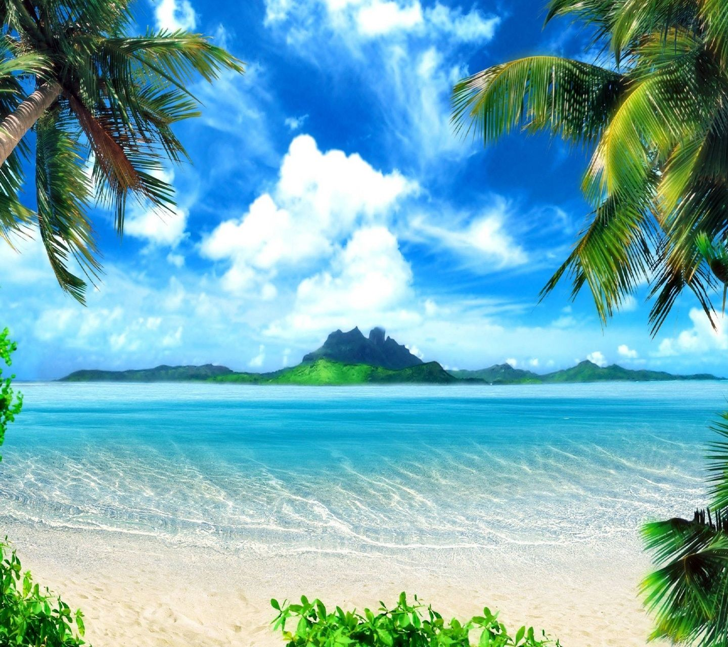 Free 3D Beach Wallpaper