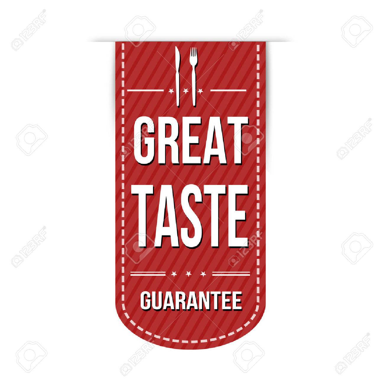 Great Taste Banner Design Over A White Background Vector 1300x1300