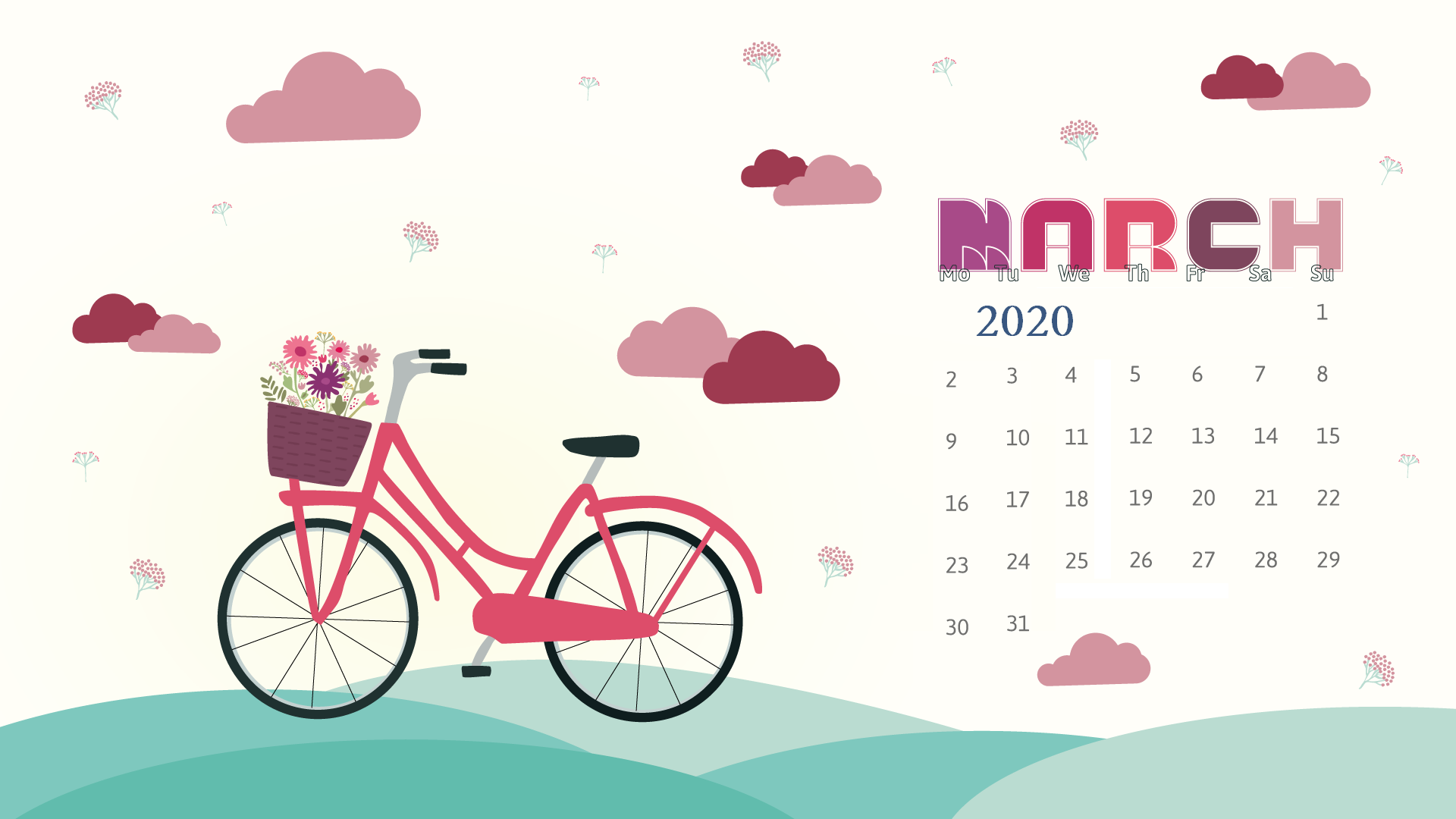 Desktop 2020 Calendar Wallpaper Max Calendars 1920x1080