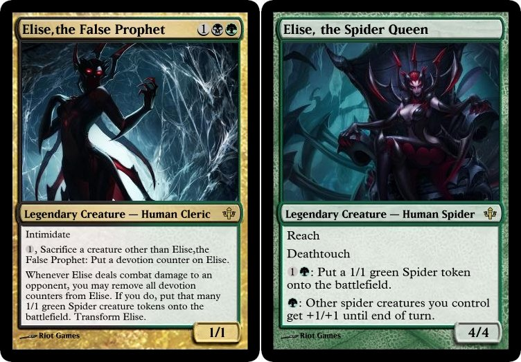 MtG   Elise the Spider Queen by soy monk 752x523