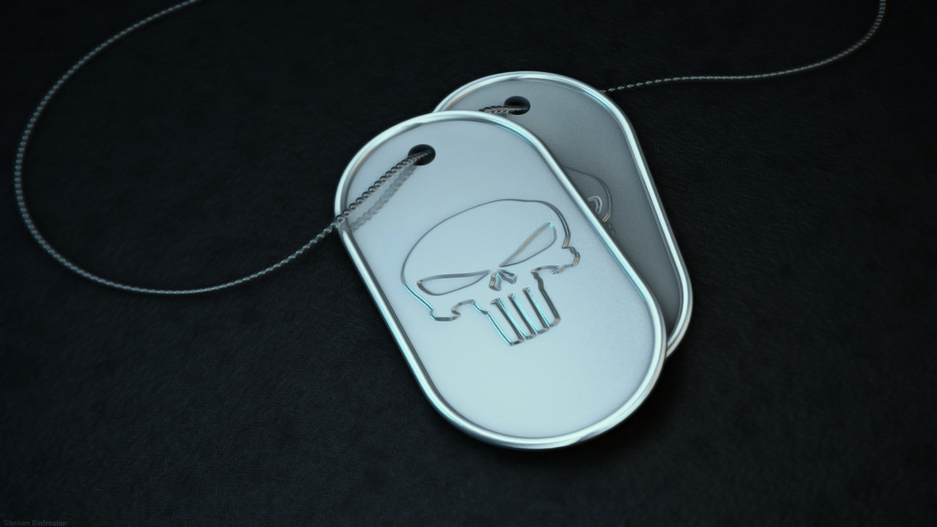 Skull Dog tag wallpapers Skull Dog tag stock photos 1920x1080