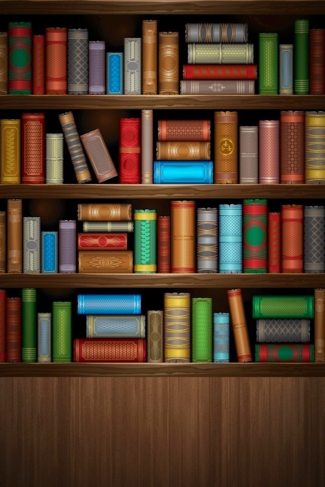 Bookshelf iPhone Wallpaper - WallpaperSafari