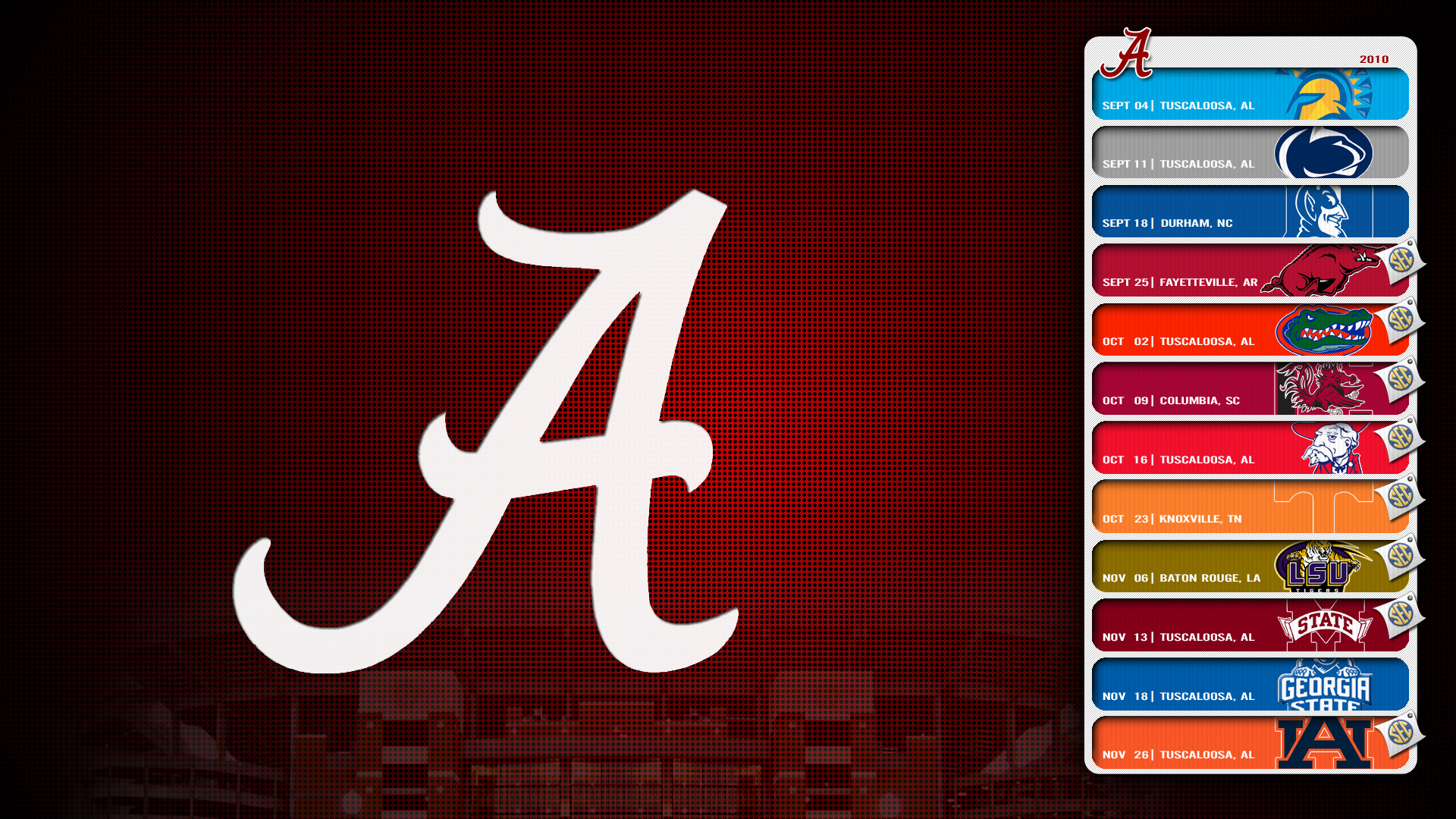 Alabama Crimson Tide Logo wallpaper   243458 1920x1080