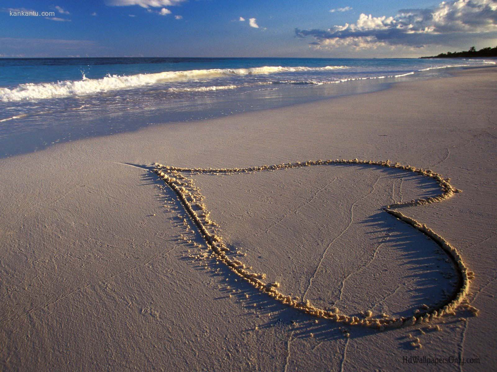 Valentine Love In Beach Wallpaper HD Wallpaper with 1600x1200 1600x1200