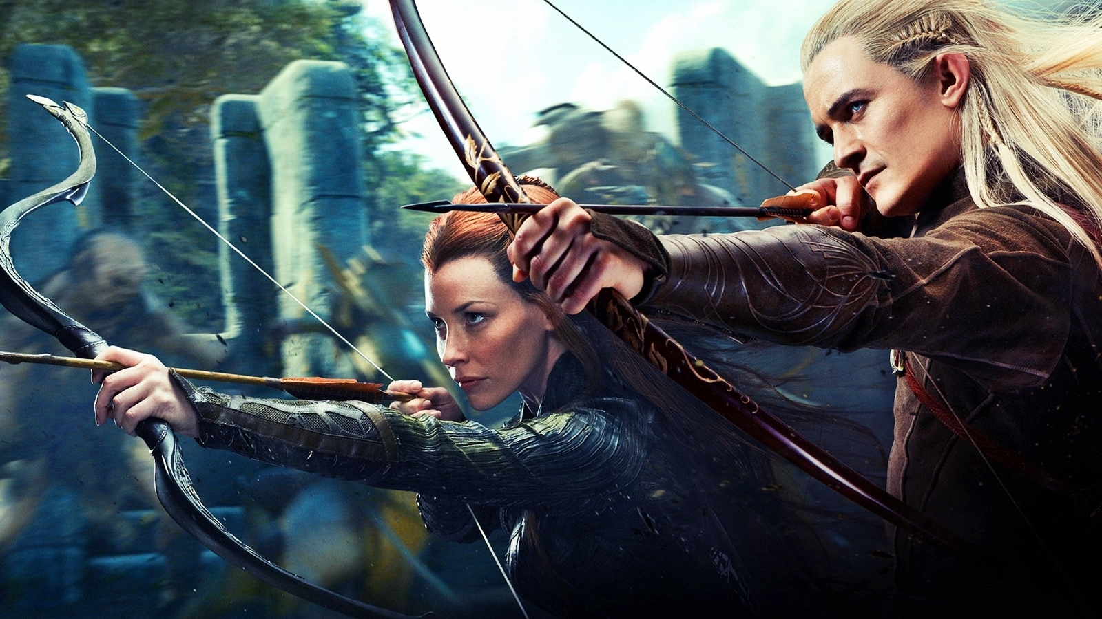 Legolas and Tauriel   Legolas and Tauriel Wallpaper 35874334 1600x900