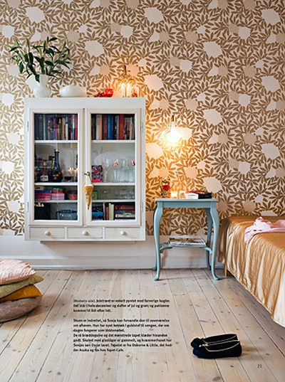 wallpaper cabinet Dream Home Pinterest 400x537