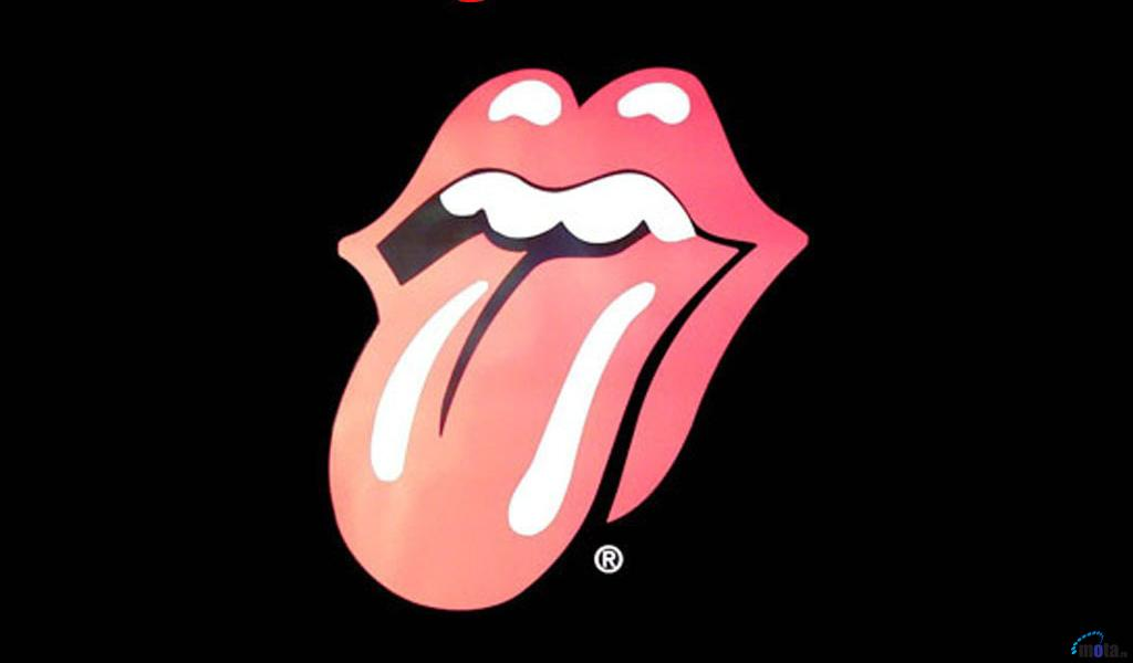Download Wallpaper The Rolling Stones Tongue Logo 1024 x 600 1024x600