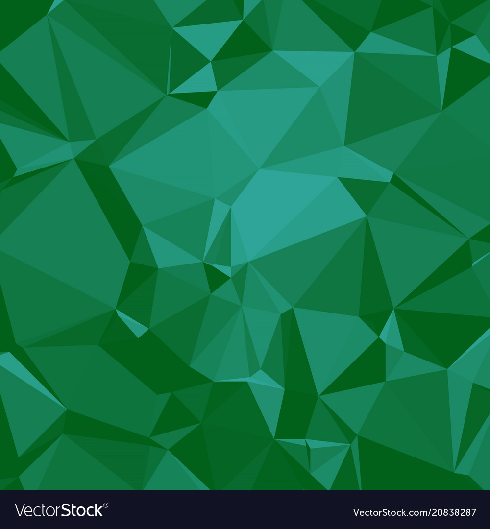 Shiny polygonal background in emerald seaform Vector Image 1000x1080