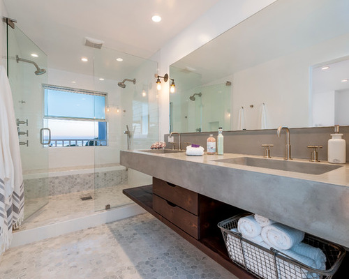 Bathroom Design Ideas Renovations Photos with Mosaic Tile Floors 500x400