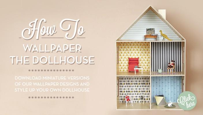 dollhouse ferm living kids wallpaper I love Ferm Livings wallpaper 703x399