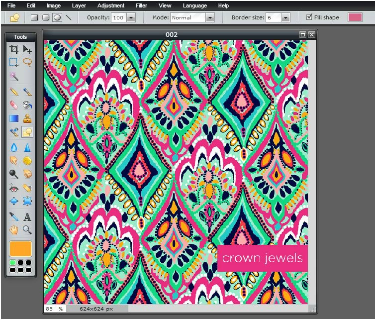 Beautifully Chaotic Lilly Pulitzer Monogram Wallpaper 754x643