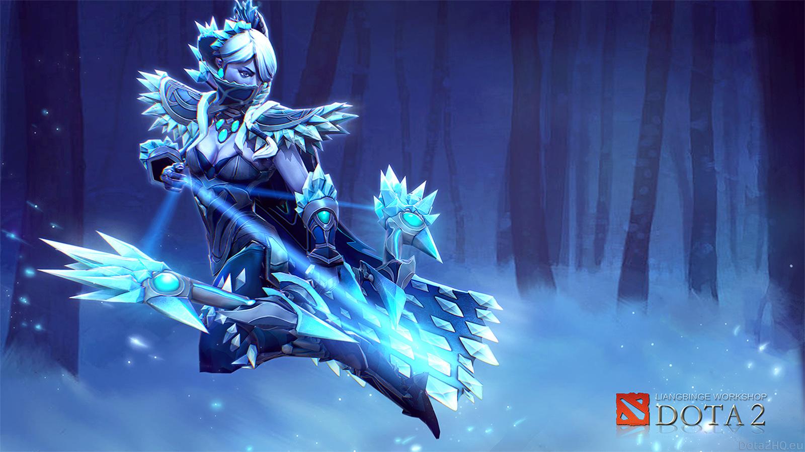 Best Dota 2 Wallpaper Drow Ranger [The Shadow of Ice Drow] DOTA 2 1600x900
