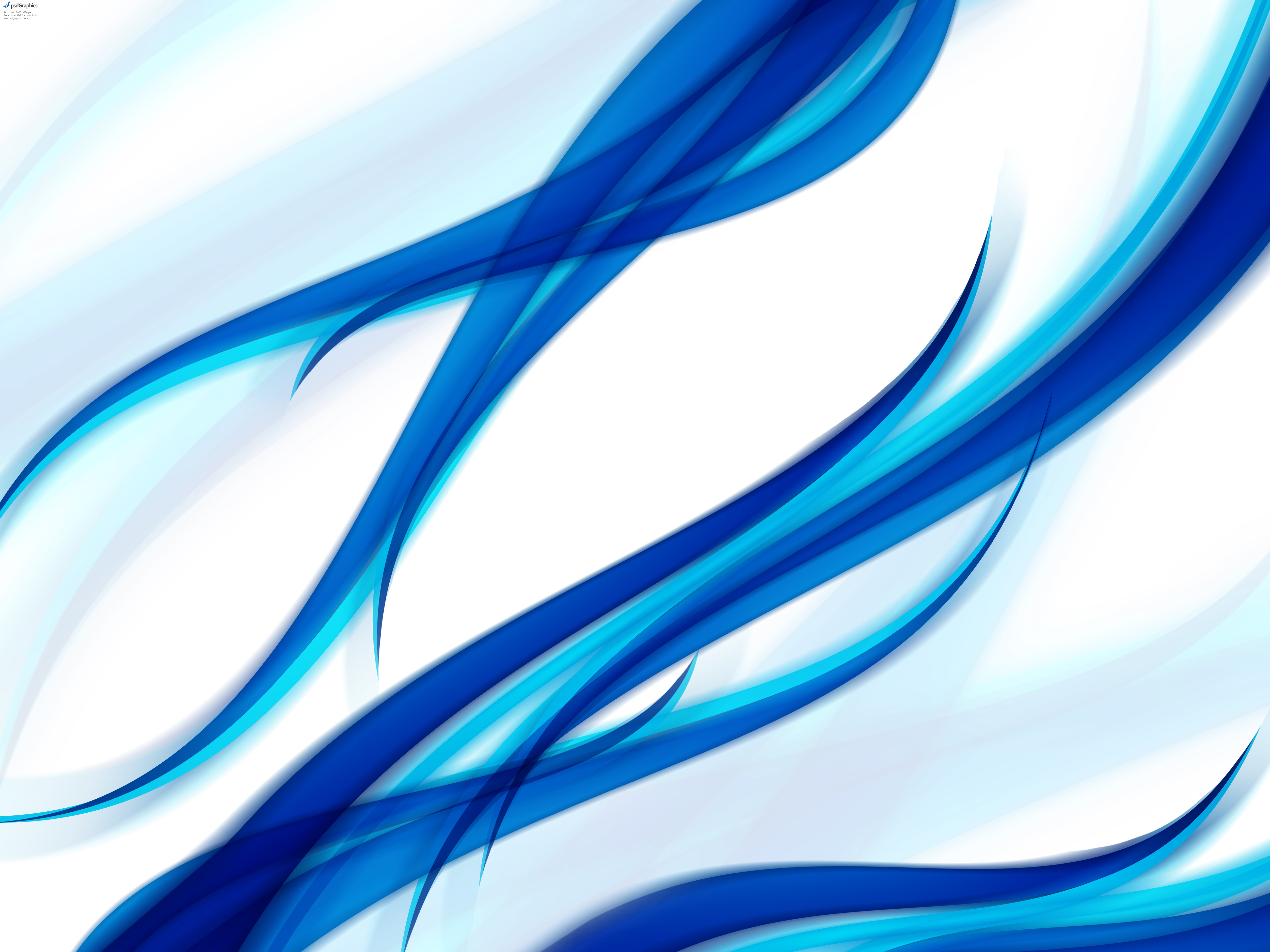 Green and blue abstract floral backgrounds PSDGraphics 5000x3750