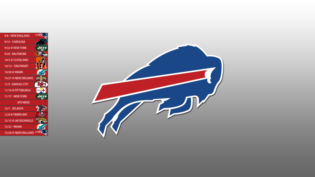 Buffalo Bills 2013 Schedule Wallpaper by SevenwithaT 1024x576