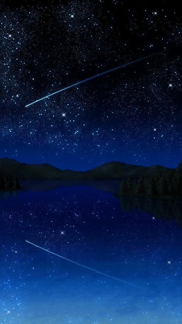 Shooting Star Sky iPhone 5 Wallpaper 640x1136