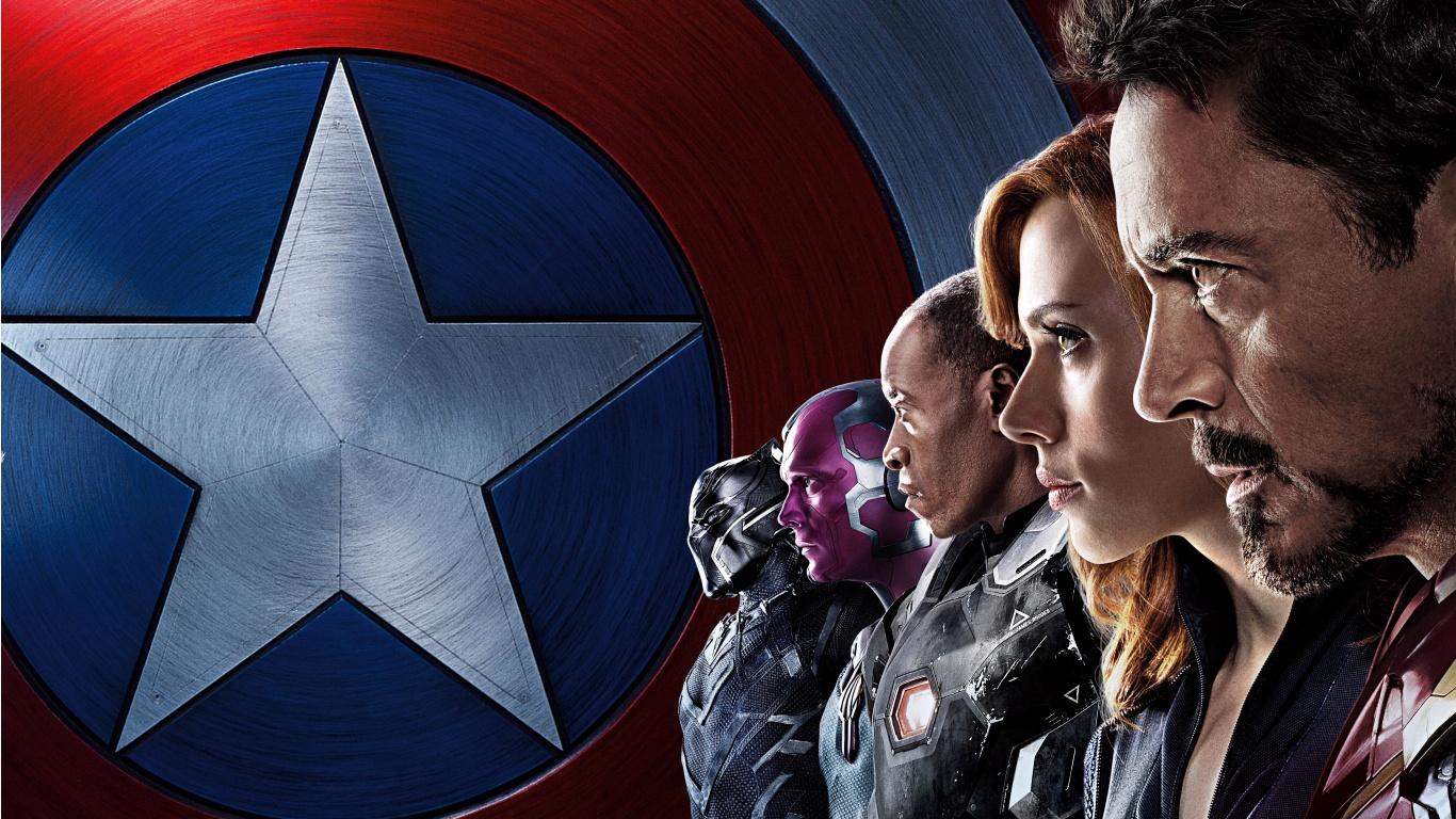 Captain America Civil War Iron Man Team HD Wallpaper   iHD Wallpapers 1366x768