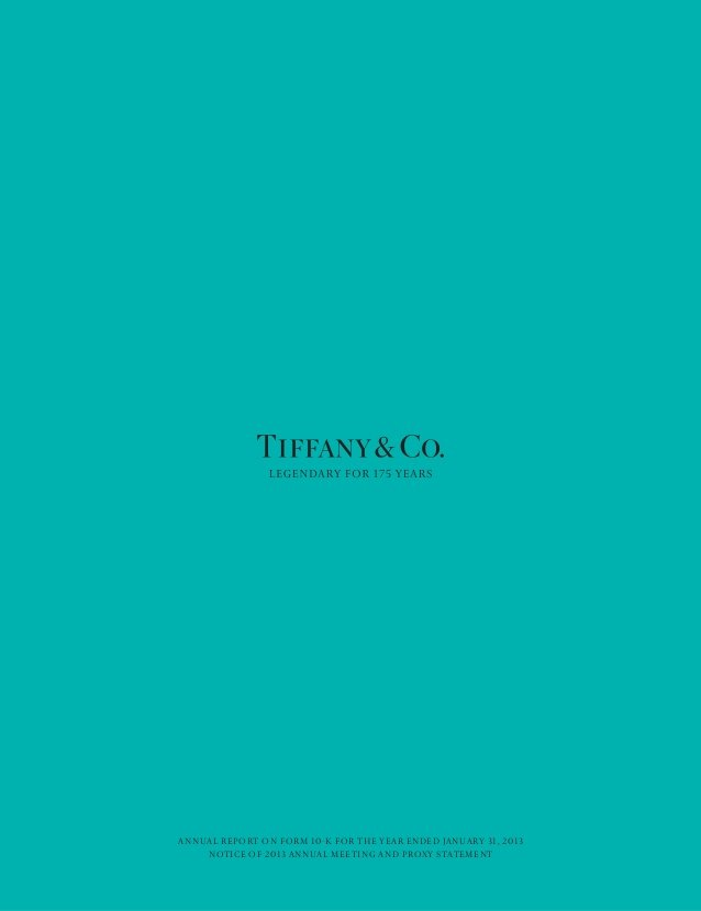 Tiffany And Co Blue Background Anual report tiffany co 638x830