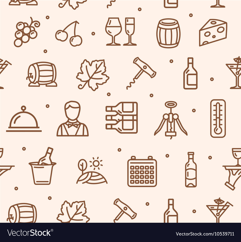 Wine Making Drink Background Pattern Royalty Vector 1000x1005