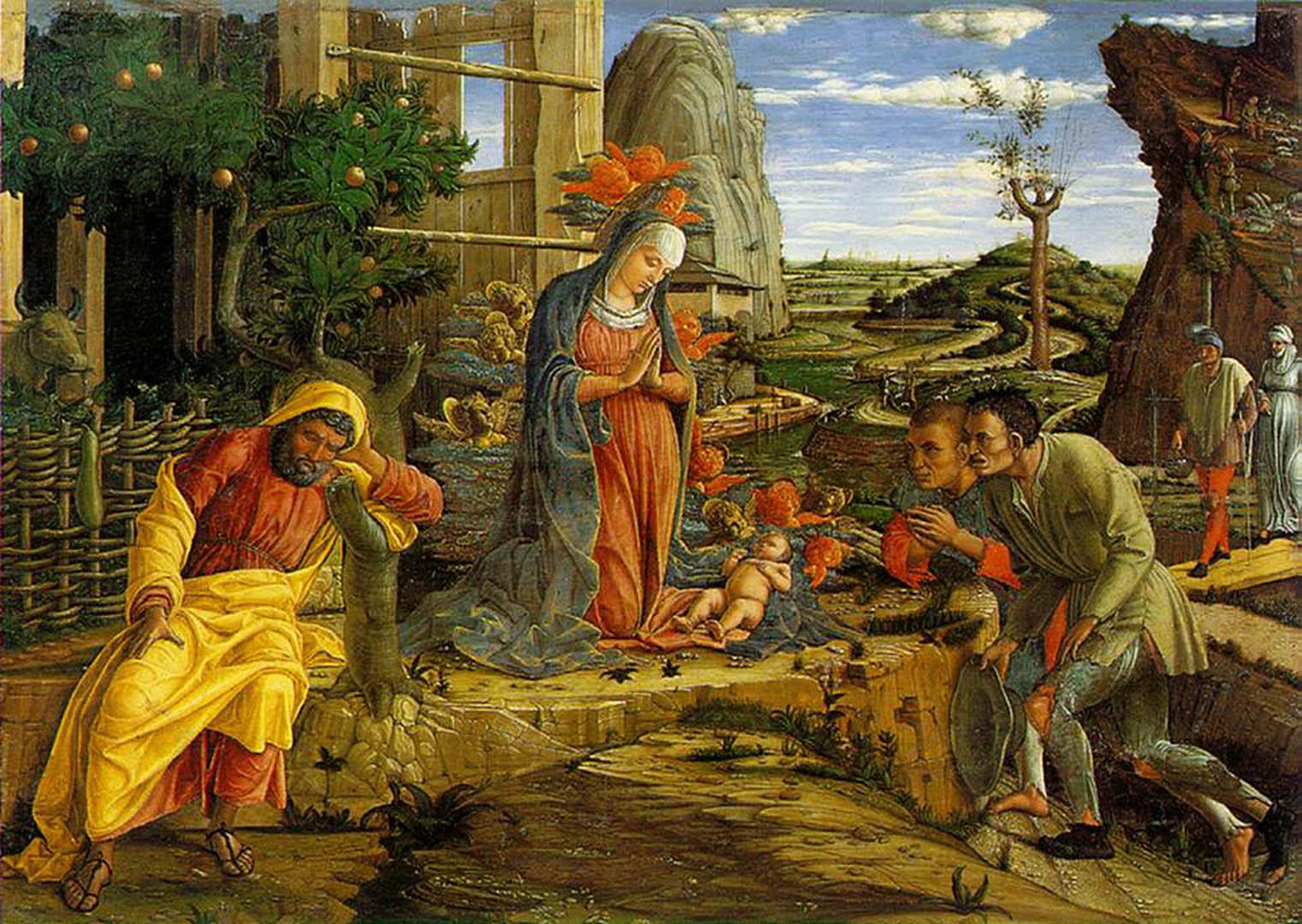 Shepherds   Italian Renaissance Andrea Mantegna Art Wallpaper Picture 1521x1080
