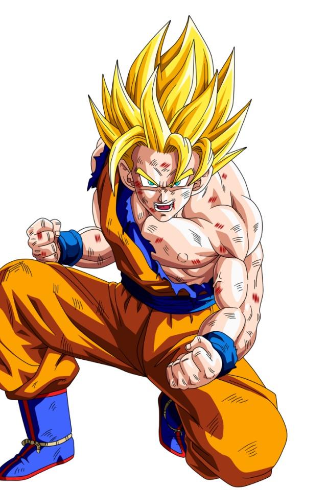 640x960 Son Goku Dragon Ball Z Iphone 4 wallpaper 640x960