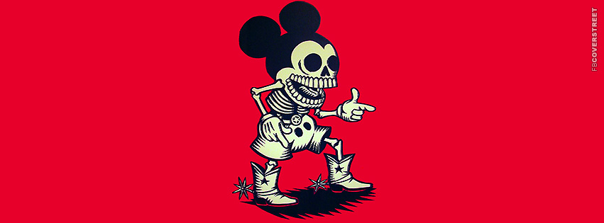 Dgk Wallpaper Dead western mickey mouse 851x315