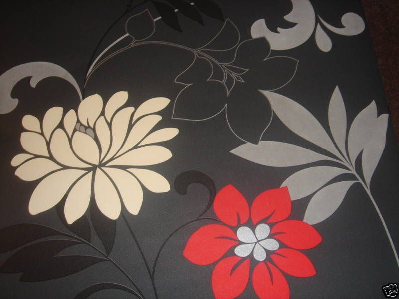 Bold Flower Wallpaper ...