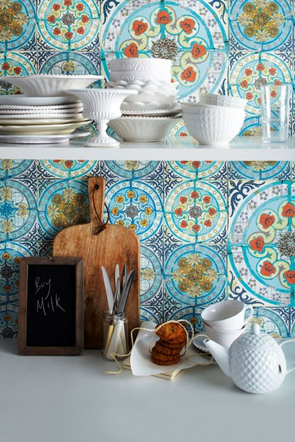 [40+] Moroccan Tile Wallpaper On WallpaperSafari