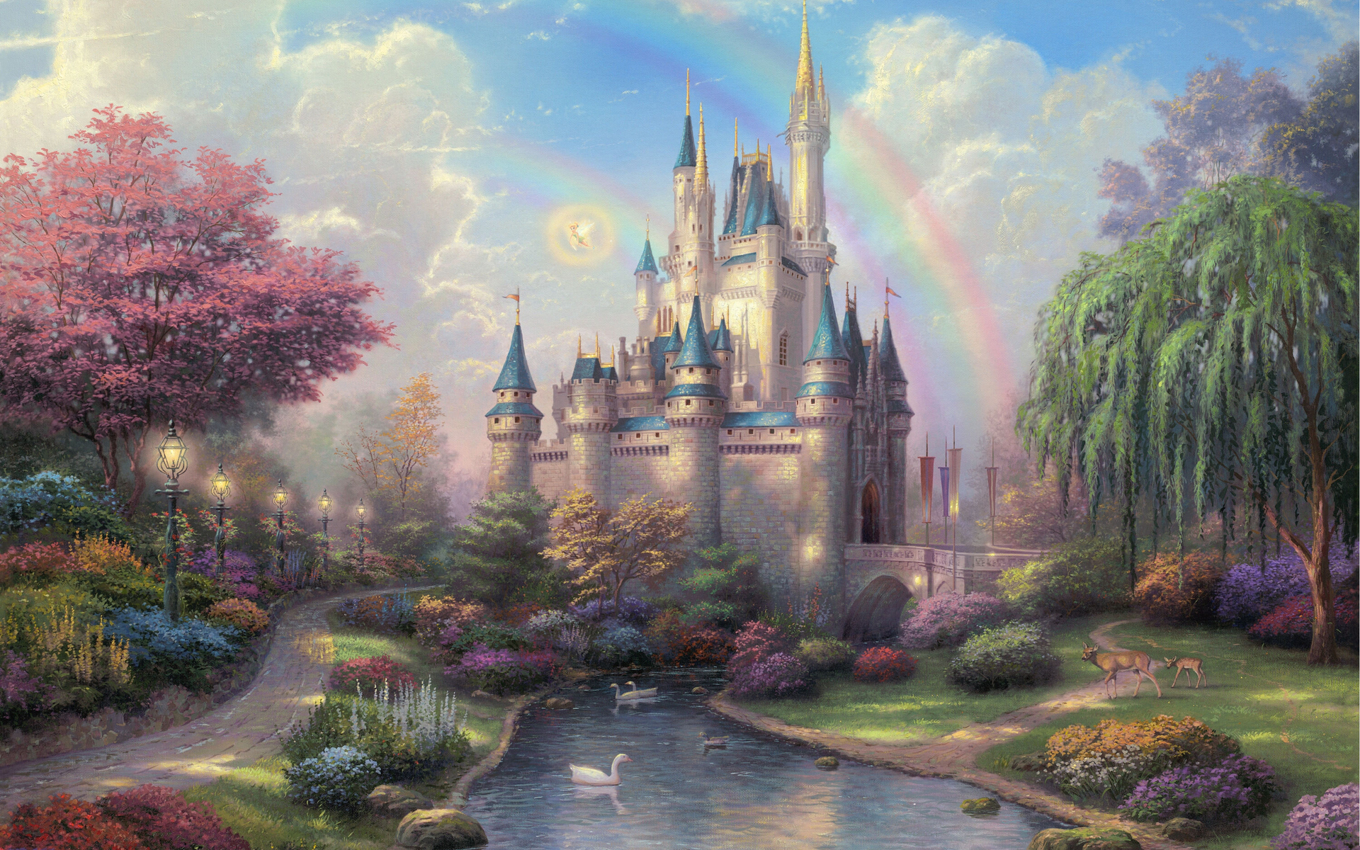 hdwallpapersdesktopcomThomas Kinkade Disneyland 1920x1200