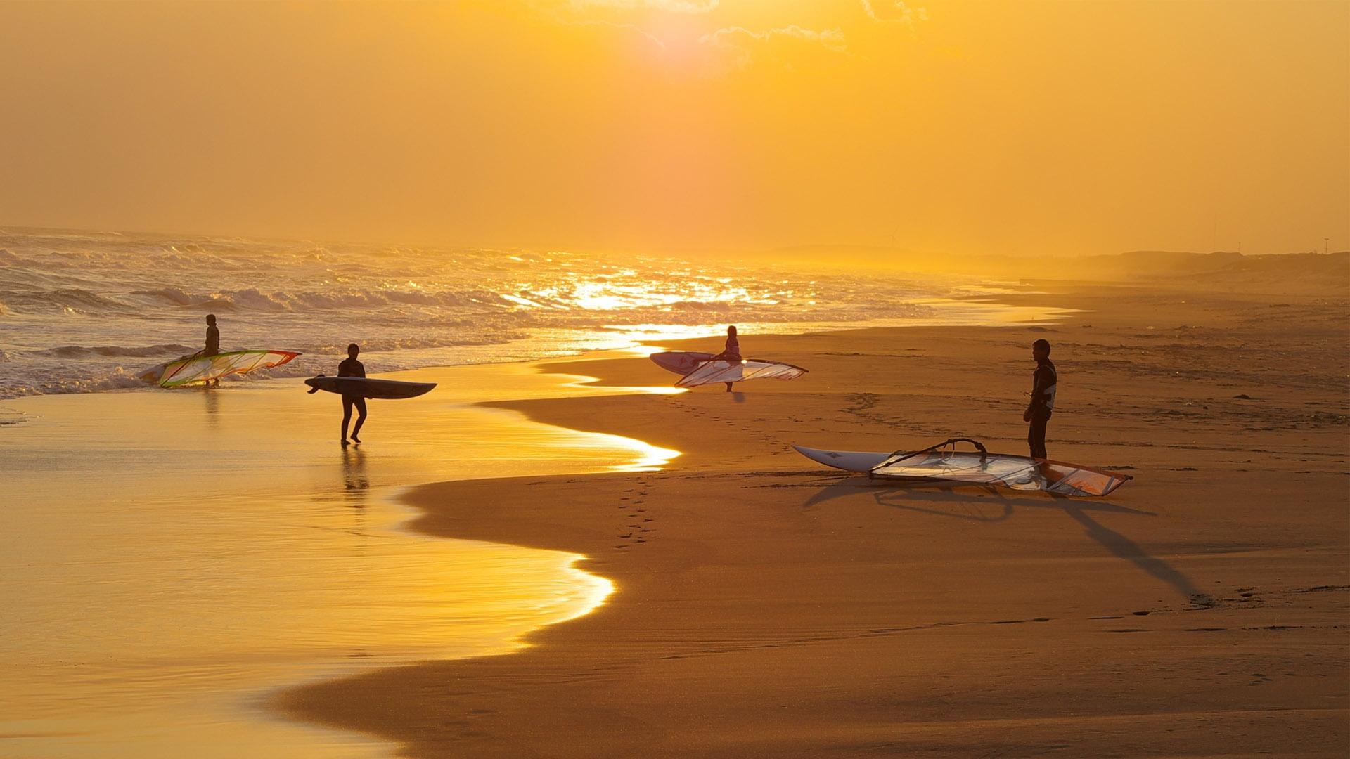 Morning Surfing Wallpaper HD Summer Wallpaper Desktop Background 1920x1080