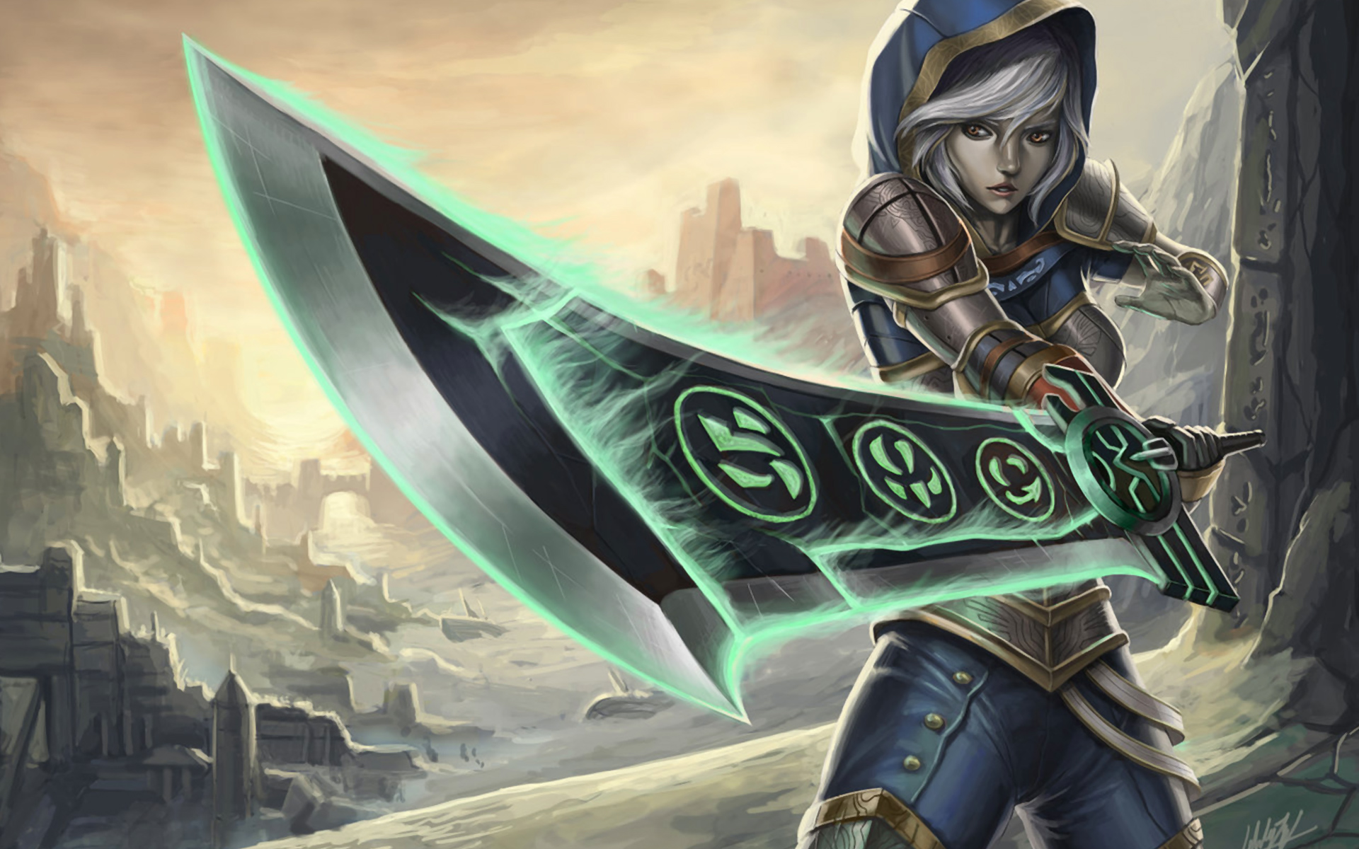 Free Download League Of Legends Wallpaper Riven Hd Girl Hd