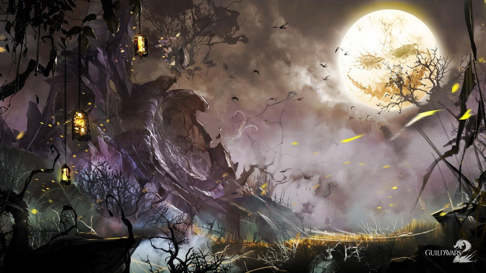 Guild Wars 2 Halloween Mystery Wallpaper 1600x900