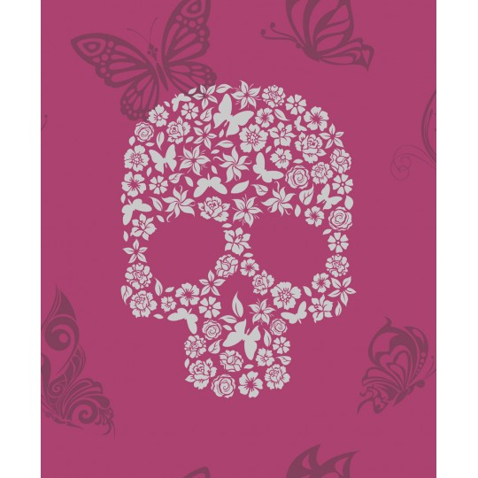 Home Shop By Brand Muriva Skulls Pink Wallpaper 540x540
