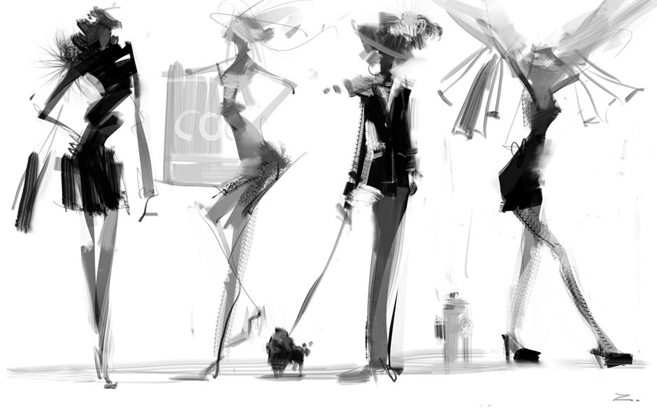 47 Fashion Sketch Wallpaper On Wallpapersafari