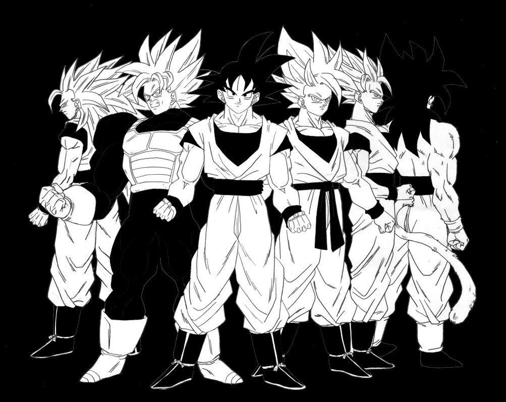 goku black and white wallpapers