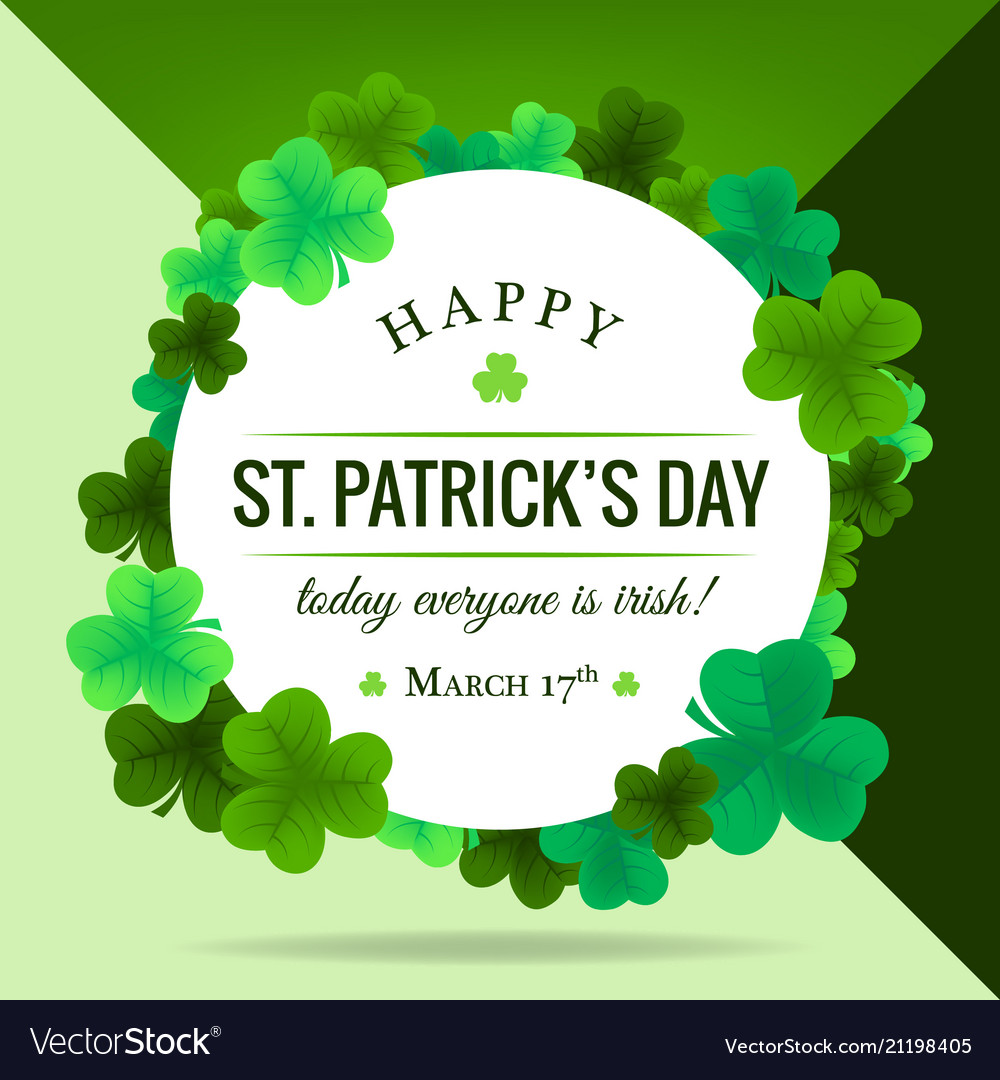 Happy st patricks day invitation wallpaper Vector Image 1000x1080