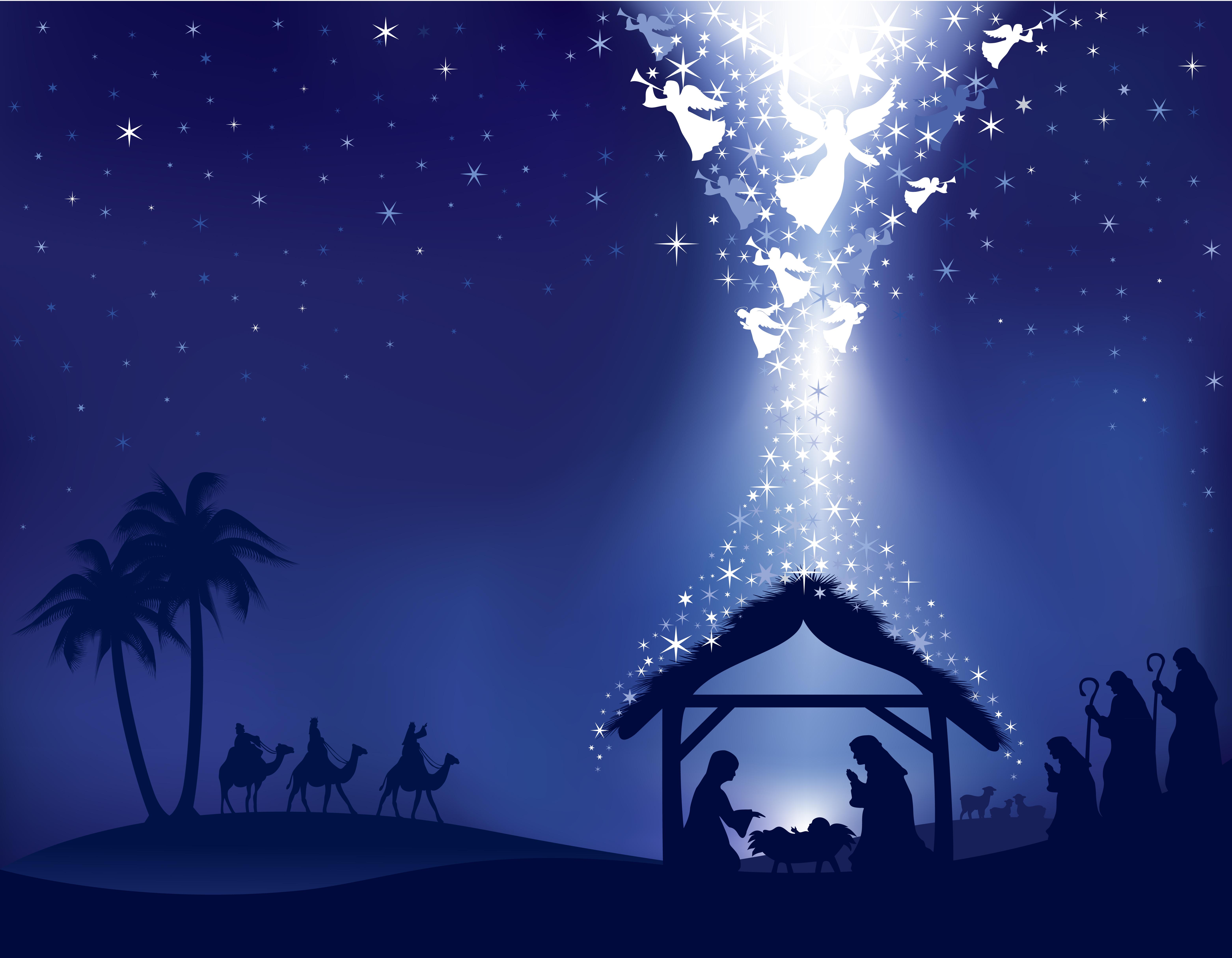 Clipart Christmas Nativity Scene