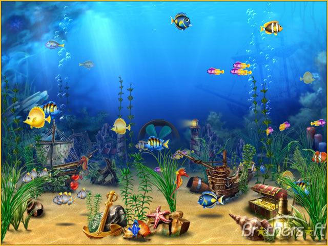Aquarium screen 3D aquarium fish tank to your desktop Comic Aquarium 640x480