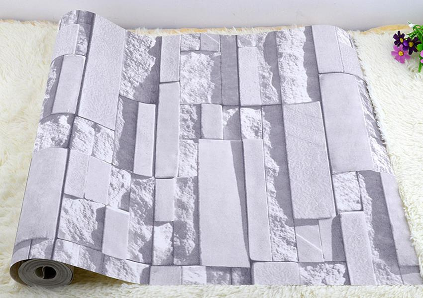 Vivid Art Wallpaper Roll Birch TreeBrick Stone Room Decor Textured 850x599