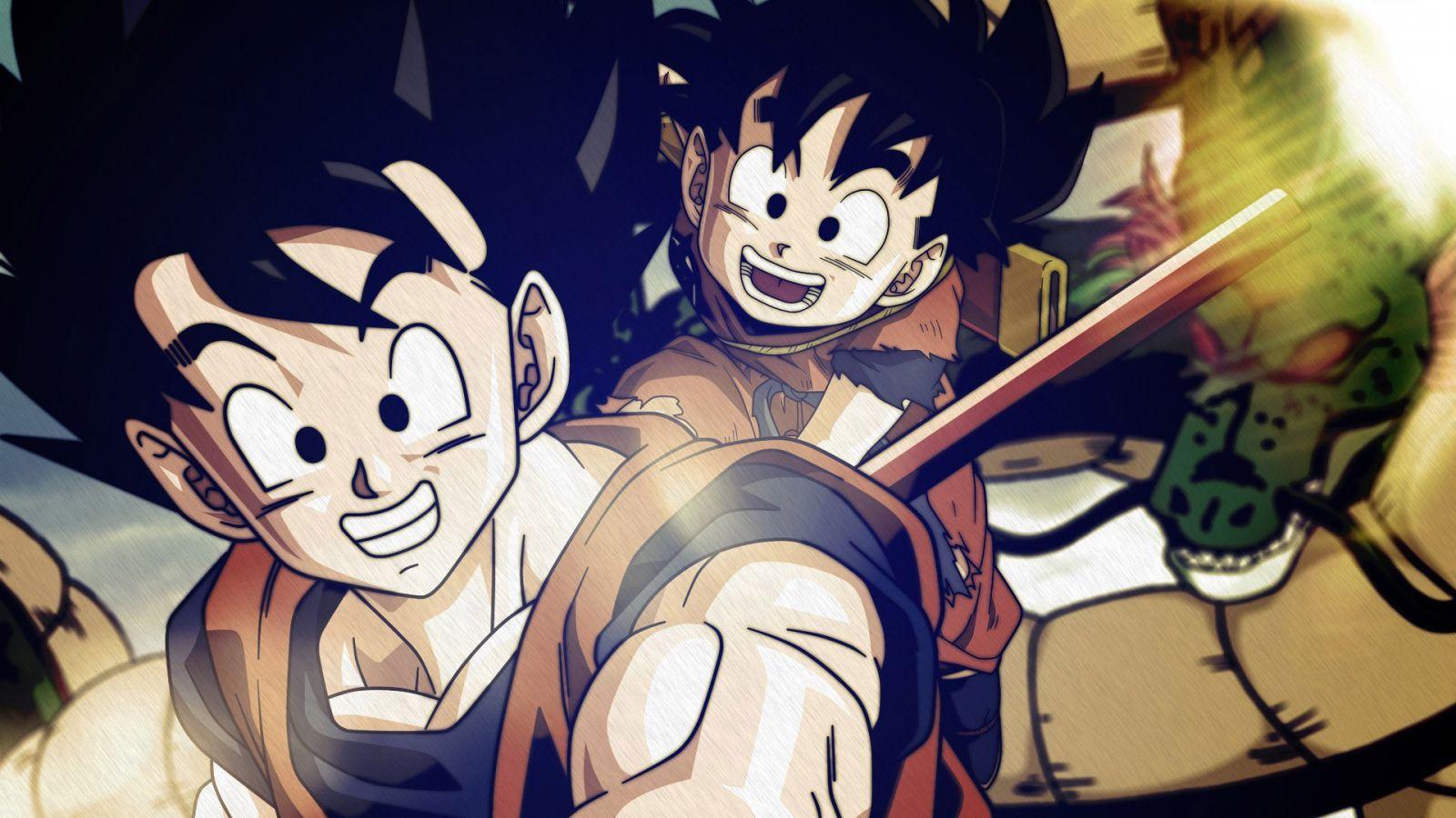 Goku and Gohan 1600x900