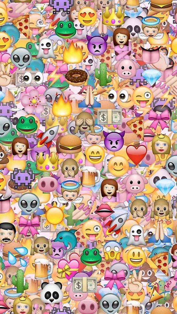 cute emoji iphone iphone wallpaper wallpaper   image 4391018 by 610x1084
