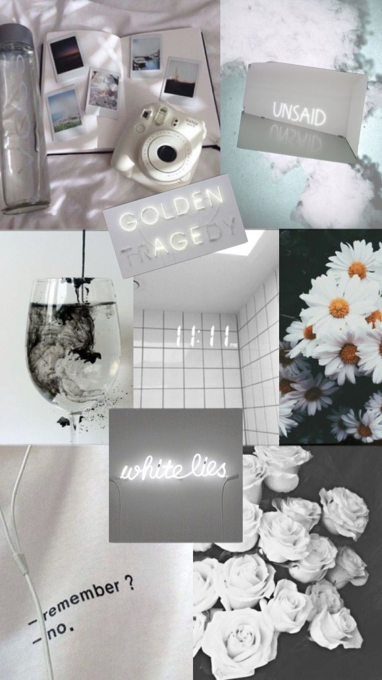 White Aesthetic Collage Wallpapers   Top White Aesthetic 750x1334