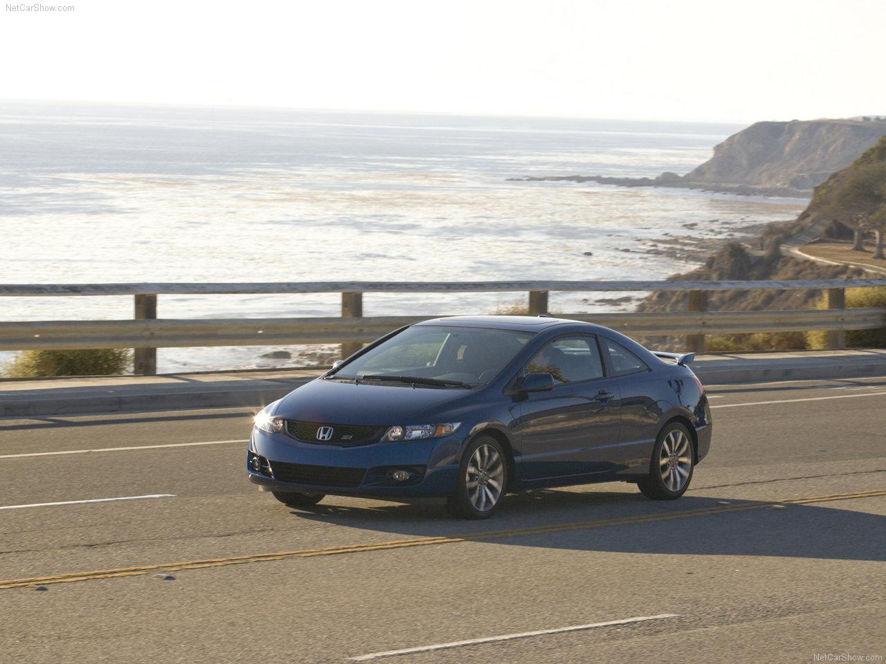 Honda   Populaire francais dautomobiles 2009 Honda Civic Si Coupe 1280x960