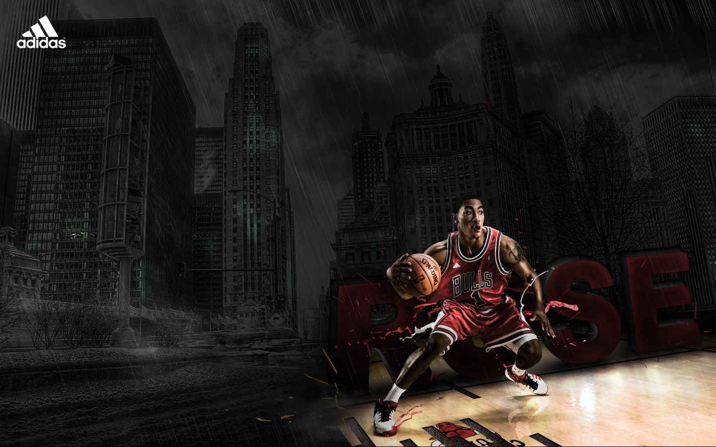 Derrick Rose Chicago Bulls Wallpaper Full HD For Desktop 1440x900