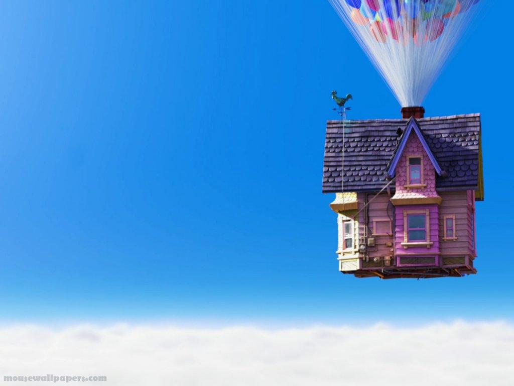 Wallpaper up carls house closer with balloons normal wallpaper Disney 1024x768